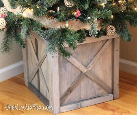 rustic crate christmas tree stand buildsomethingcom