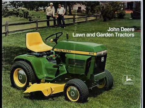 john deere lawn tractor time line youtube