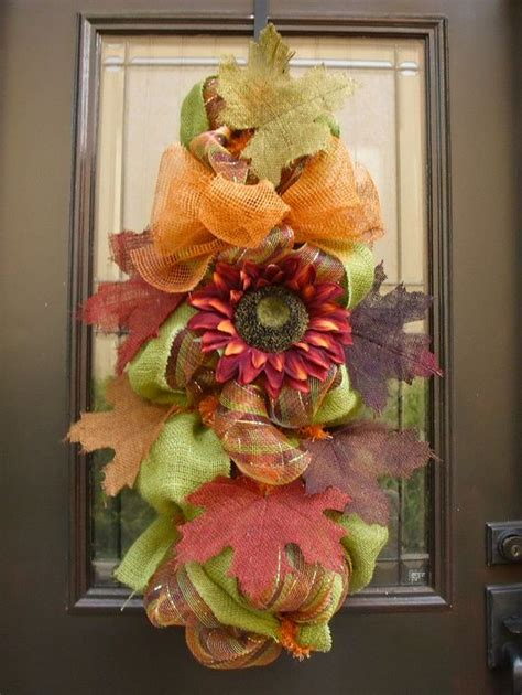 Swag Wreaths Front Door Front Door Wreath Fall Fall Swag Burlap Deco Mesh By Luxewreaths 149 00 Wreaths Swags