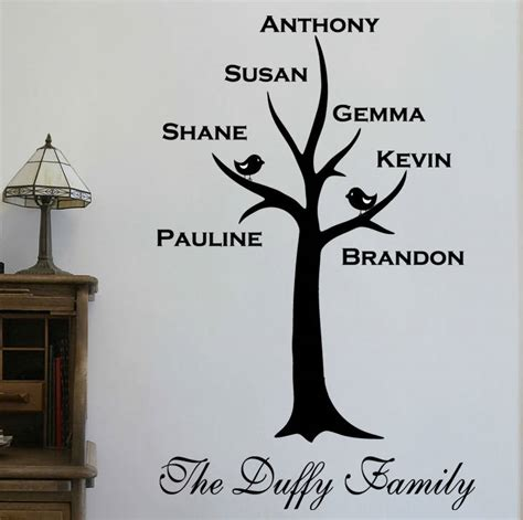 family tree wall stickers personalised family tree wall sticker by wall quotes