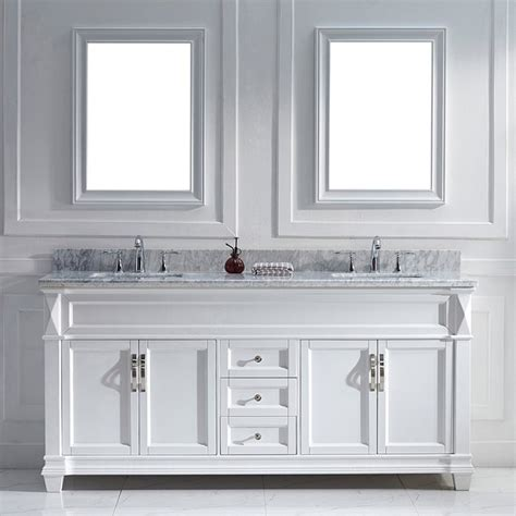 virtu usa 72 inch white sink vanity set