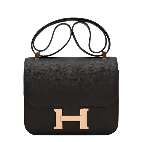 Hermes Hm022 Rosegold hermes constance bag 24cm black epsom gold hardware world s best