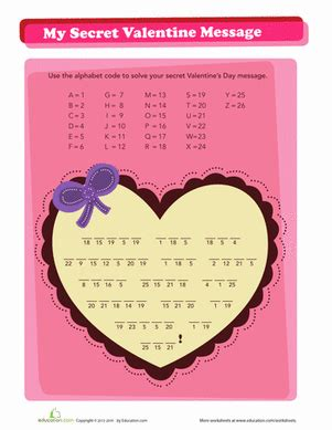 s day secret message picture valentines printable search results