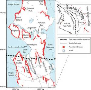 seattle earthquake map review of a paper landslide scenarios for a large seattle earthquake the landslide agu