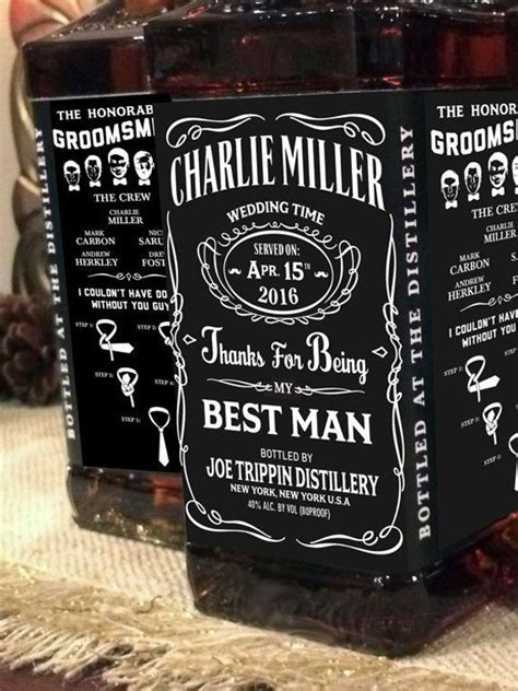 Do your groomsmen love JD? Personalised Jack Daniel labels
