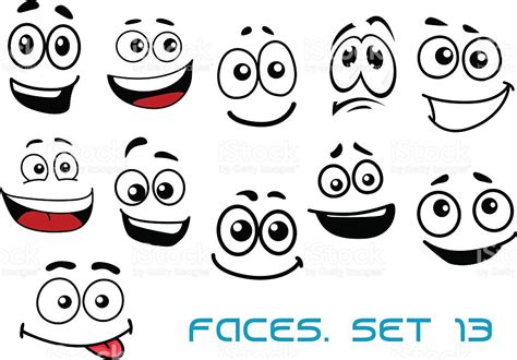 imagenes de caras asombradas caras de dibujos animados con varias emociones arte