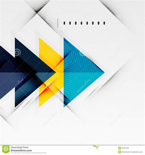 presentation layout vector modern glossy triangles business layout stock vector