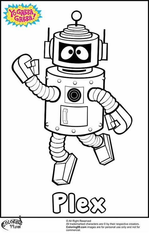 yo gabba gabba coloring pages free printable yo gabba gabba printable coloring pages coloring home