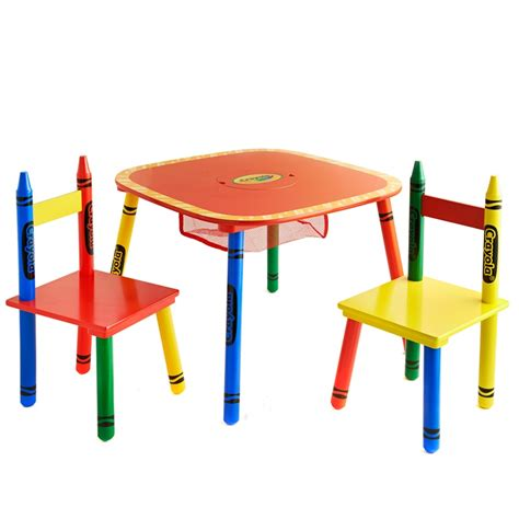 crayola table and chairs crayola table chairs set 3pc furniture b m