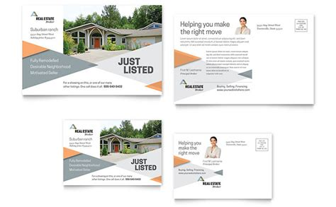 realtor cards template realtor postcard template design