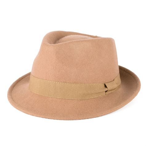 Handmade In Italy - 100 wool trilby hat with grosgrain band handmade in italy