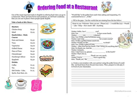 themes for english 89 food esl ideas eslefl there is are countable and
