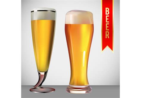 beer vector beer glass vector pack