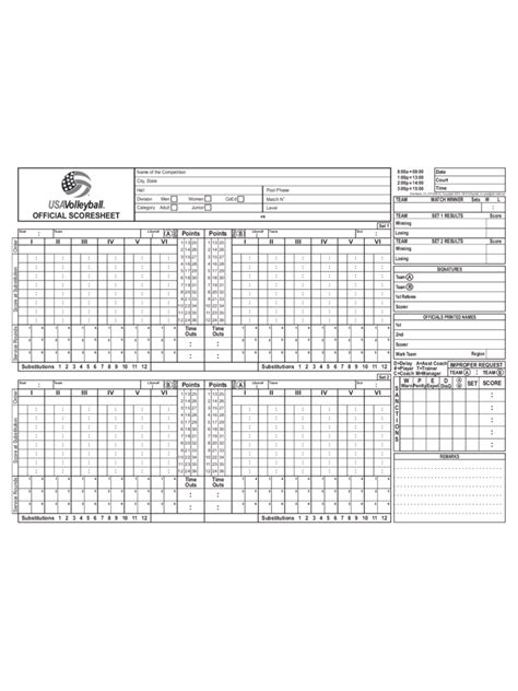 free printable volleyball score sheets volleyball score sheet 7 free templates in pdf word