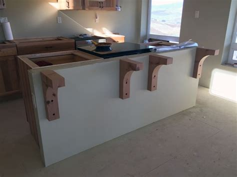 Wooden Corbels For Granite Countertops construction countertop installation an eclectic mind