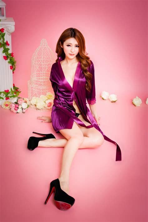 Satin Kimono Set G String Costume Purple Sbt Skp10 silk robe pyjamas sleepwear end 4 4 2019 4 15 am