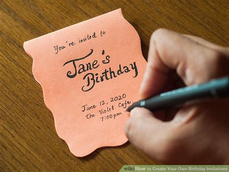 invitations create your own 3 ways to create your own birthday invitations wikihow