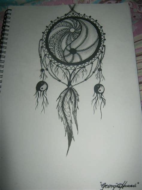yin yang dreamcatcher tattoo ying yang dream catcher art ideas pinterest dream