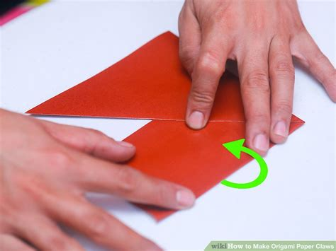 How To Make A Paper Claw Step By Step - 3 ways to make origami paper claws wikihow