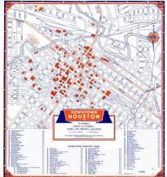 map of downtown houston bayou city history houston june 2006