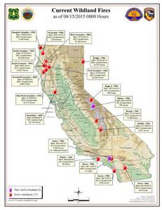 map of current fires in california wildfires california map