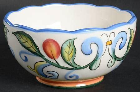 Mangkok Keramik Cereal Bowl Motif fitz floyd ricamo motif at replacements ltd