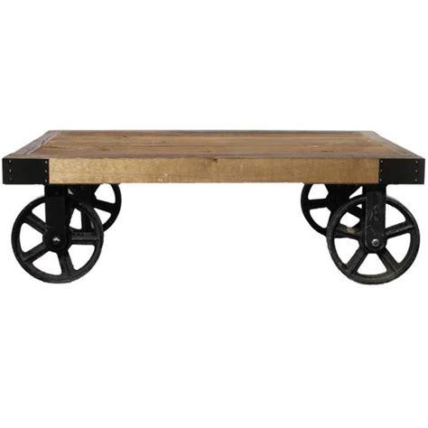 table basse en bois avec roulettes achat vente table