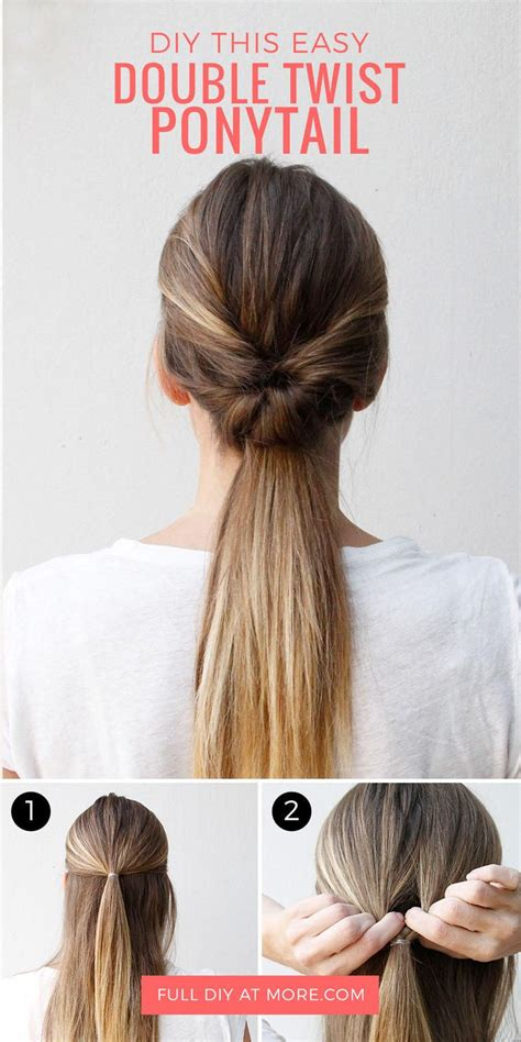 five minute hairstyles for goths this double twist ponytail is the perfect five minute