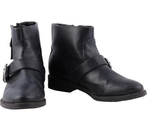 Sepatu Bradleys Erudite Black Material Pull Up Leather 08 pull black boots
