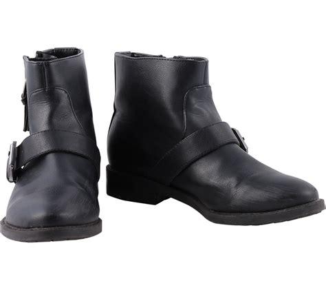 Sepatu Bradleys Giemly Black Material Pull Up Leather Kerja Hangout pull black boots