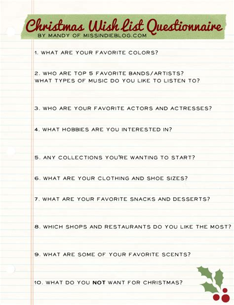 questionnaire for christmas ideas myideasbedroom com