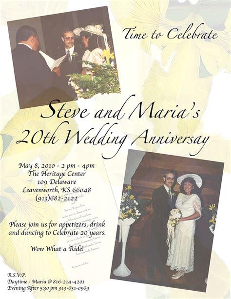 20th wedding anniversary invitation card 20th wedding anniversary invitation
