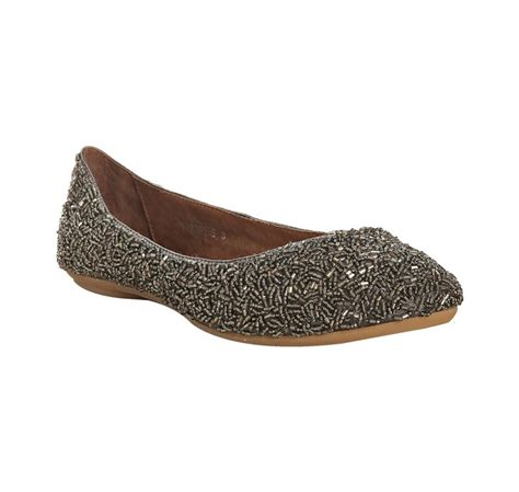 pewter flat shoes jeffrey cbell pewter beaded sprinkles flats in silver