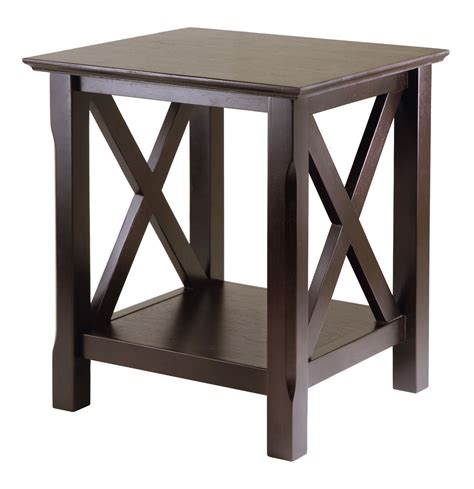 X Side Table X Cappuccino End Table In Side Tables