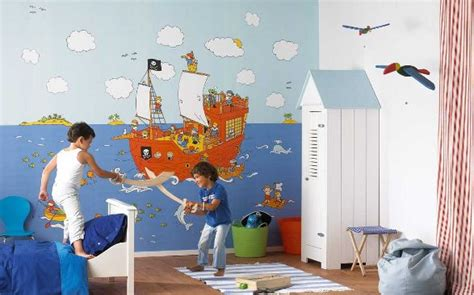 chambre pirate alin饌 the finest wall decorations for kid s room wallpapers for