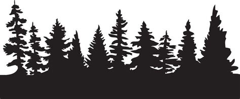 Pine Tree Outline by Silhouette Of Pine Trees Clipart Clipartsgram