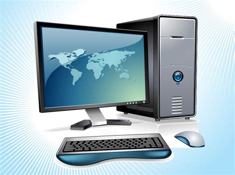 What Is A Desk Top Computer Desktop Computer Vector Vector Graphics Freevector