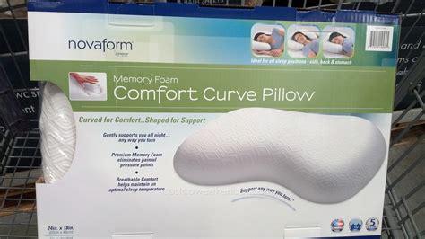 novaform memory foam comfort curve bed pillow costco