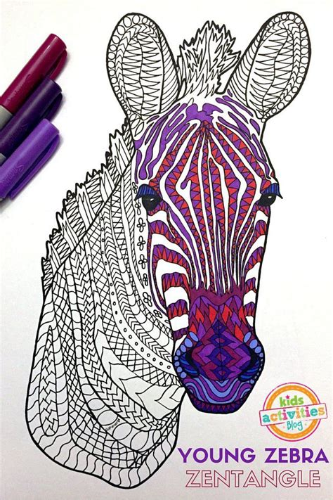 printable zebra book 128 best animal coloring pages images on pinterest