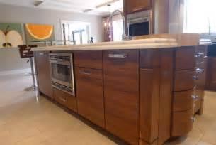 walnut horizontal grain kitchen contemporary kitchen