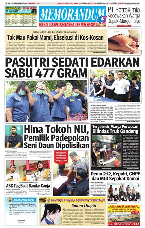 memorandum edisi 29 november 2016 by memorandum issuu