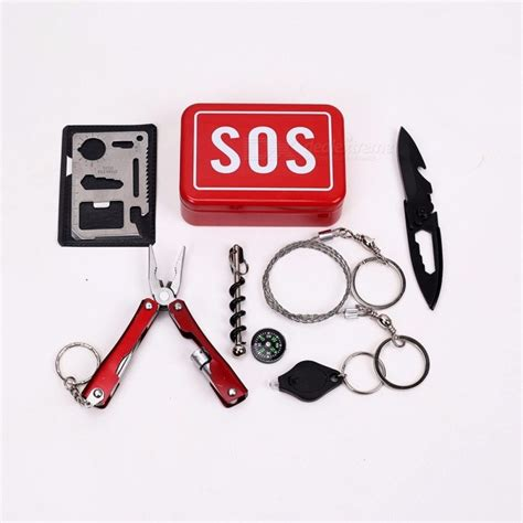 Portable Sos Tool Kit Earthquake Emergency Onboard Outdoor Survival outdoor emergency equipment sos kit car earthquake emergency supplies sos cing survival tool