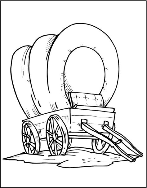 covered wagon coloring page wagon coloring page new year