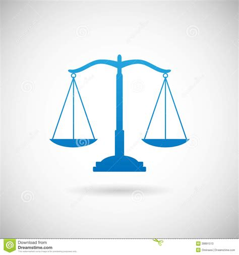 design is law law symbol justice scales icon design template on grey