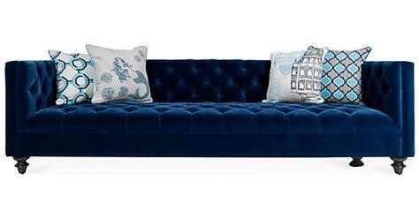 Media Room Sectional - kieran 96 quot tufted sofa navy velvet sofas amp loveseats 2 925 cad liked on polyvore polyvore