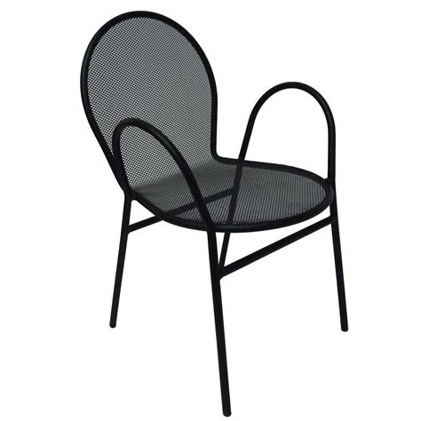 Mesh Patio Chairs by All About Furniture Om110 Black Mesh Outdoor Steel