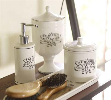 apothecary bathroom accessories black white apothecary bath accessories pottery barn