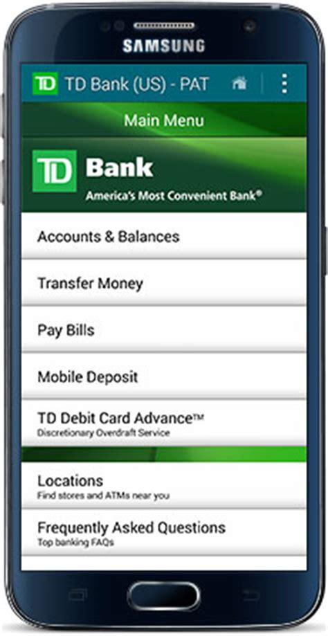 td bank check deposit app free bill pay td bank