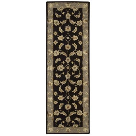 6 x 3 rug nourison india house black 2 ft 3 in x 7 ft 6 in rug runner 232021 the home depot