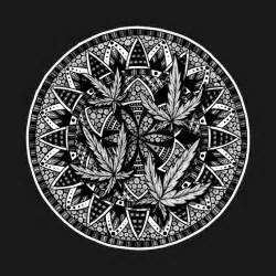 Flower Stickers For Wall marijuana leaf mandala 1 marijuana t shirt teepublic
